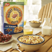 Amazon: Post Honey Bunches of Oats with Crispy Almonds Cereal 18 oz. Box...