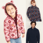 Old Navy Cyber Week! Sherpa Pullovers for the Family Only $10 Today!