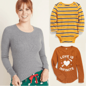TODAY ONLY! Old Navy Holiday Deal! Thermal Tees for Adults, Kids & Toddlers...