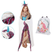 Amazon Cyber Week! Unicorn Hooded Blanket For Kids $17.99 After Code (Reg....