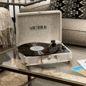 Kohls: Victrola Portable Suitcase Record Player with Bluetooth $24.99 (Reg....
