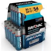 Walmart Cyber Week! 54 Pieces Rayovac High Energy Alkaline Battery Bundle...