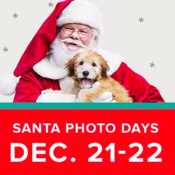 Pet Smart: Free Pet Photos with Santa on December 21 and 22