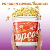 AMC Theatres: 2020 Annual Refillable Popcorn Bucket $20.99 - Pay $4.99...