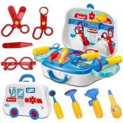 Amazon: Doctor's Working Tools In A Portable Role Play Set with Accessories...