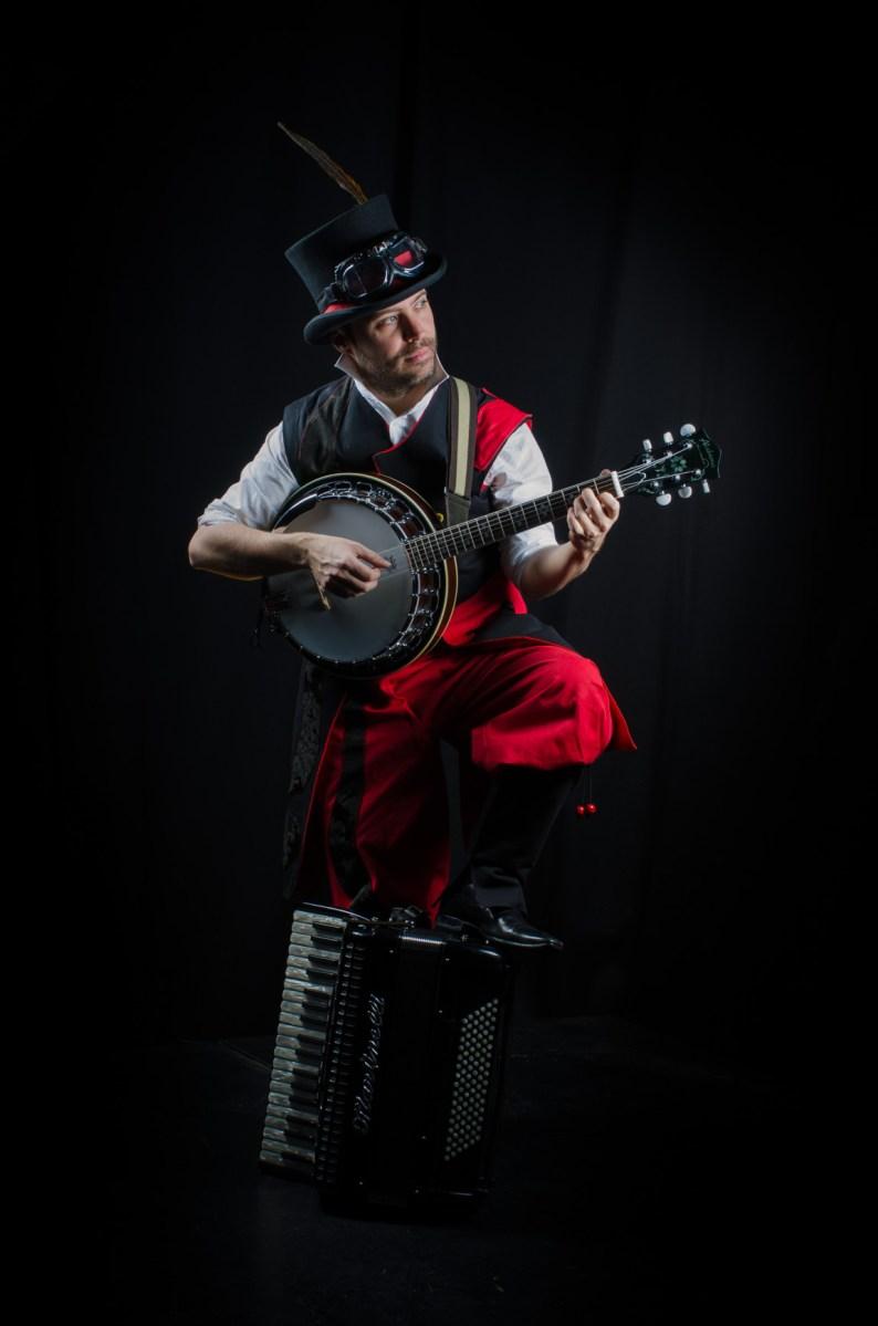 Musicien Banjo Accordéon