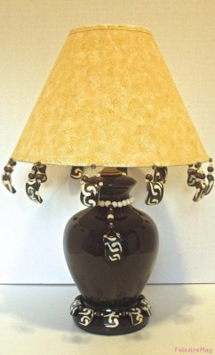 Afrocentric beaded lamp