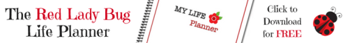 The Red Lady Bug Life Planner