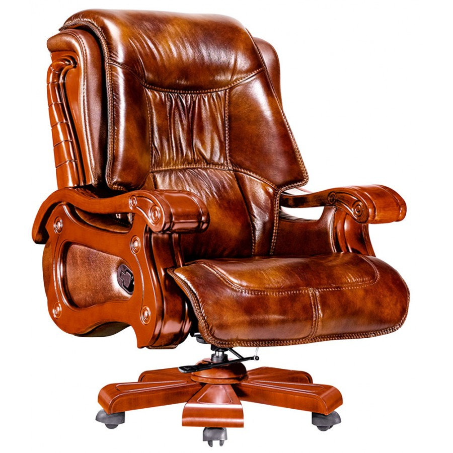 EXECUTIVE LEATHER OFFICE RECLINER CHAIR