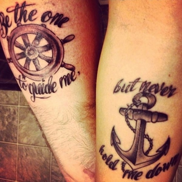 cool matching tattoos couples