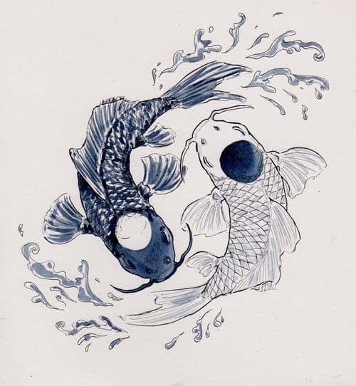 20 Avatar Yin Yang Koi Tattoos Ideas And Designs