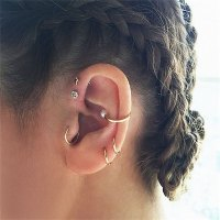 60+ Tragus Piercing Pictures, Jewelry, Pain, Healing ...