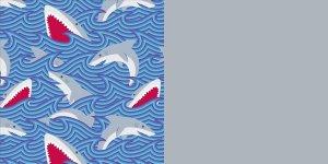 Shark Wave - Heather Grey