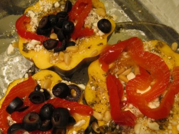 acorn squash rings with feta and pine nuts (5)
