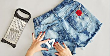 DIY Denim Funky Shorts   Fabulous Flow Of Fashion