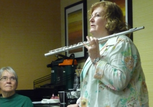 Patricia George at 2013 Portland Flute Retreat