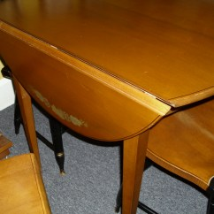 Hitchcock Desk And Chair Dining Steel Legs Two More Chairsand A Drop Leaf Table Fabulous