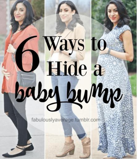 6 Ways to Hide a Baby Bump