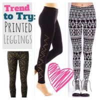 Trend to Try: Printed Leggings