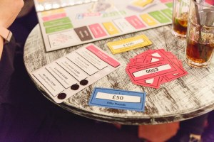 life goals card,counters and board game