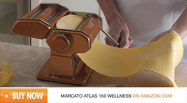 Red Marcato Atlas 150 Wellness Pasta Maker on Amazon