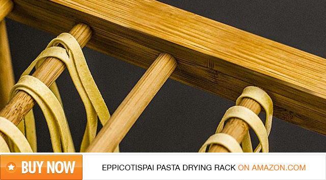 Bamboo Eppicotispai Pasta Drying Rack on Amazon