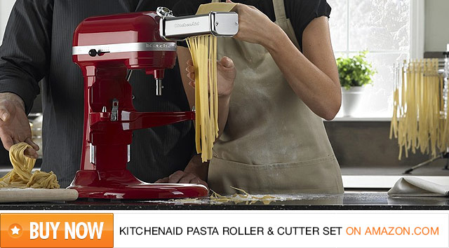 kitchen aid pasta metal table sets kitchenaid roller cutter attachment set review fabulouspasta buy the on amazon