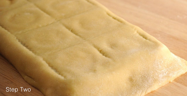 Use your rolling pin over the ravioli tray