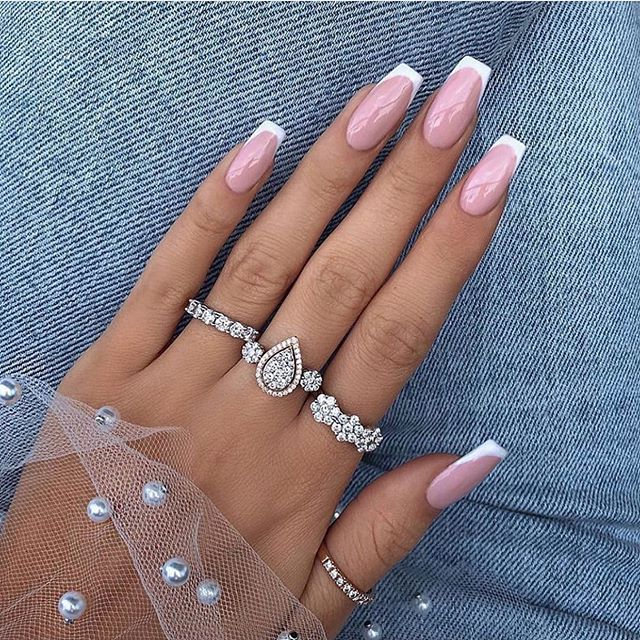 100 spring nail art ideas 2020, best spring nails 2020, french nail art designs, spring nail art designs, pink nail art designs #nailart #springnails