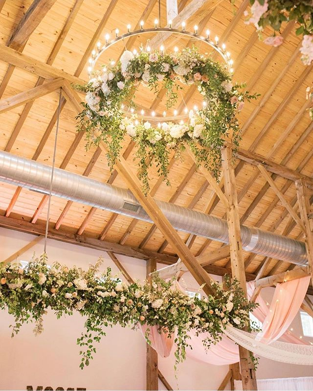 spring wedding decors, greenery wedding chandelier