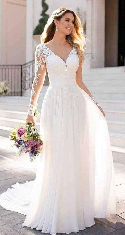 lace wedding dress, a line wedding dress #weddingdresses #weddinggown wedding dress trends 2020