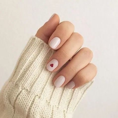 best nail art ideas for Valentine's day 2020 - 15, valentine nails 2020, valentines day nails 2020, valentine's day acrylic nails, valentine gel nails, valentines day nails 2020, nail designs, heart nail art , pink nail art, pink nail colors, simple heart nail designs, easy heart nail art, heart nail designs for short nails, heart tip nails,  heart toe nail designs, pink nails with red hearts