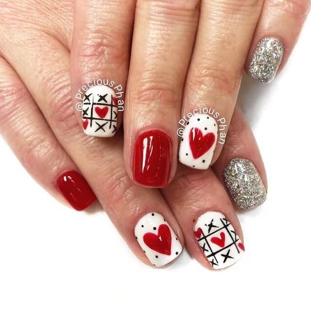 best nail art ideas for Valentine's day 2020 - 16, valentine nails 2020, valentines day nails 2020, valentine's day acrylic nails, valentine gel nails, valentines day nails 2020, nail designs, heart nail art , pink nail art, pink nail colors, simple heart nail designs, easy heart nail art, heart nail designs for short nails, heart tip nails, heart toe nail designs, pink nails with red hearts