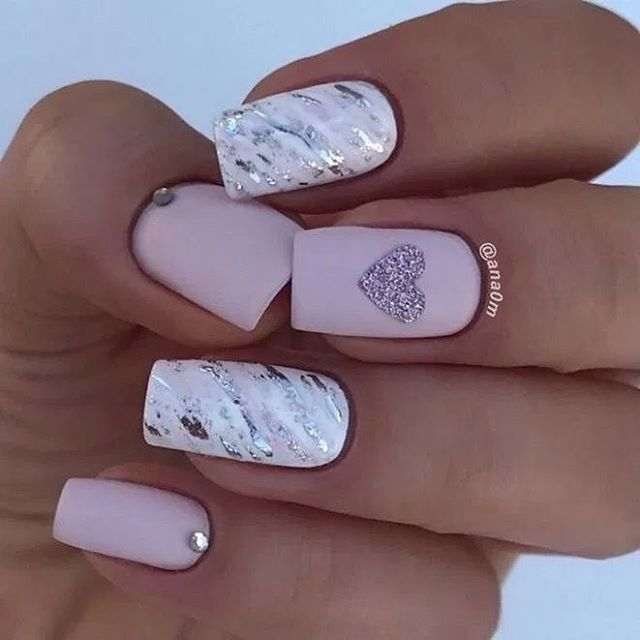 best nail art ideas for Valentine's day 2020 - 11, valentine nails 2020, valentines day nails 2020, valentine's day acrylic nails, valentine gel nails, valentines day nails 2020, nail designs, heart nail art , pink nail art, pink nail colors, simple heart nail designs, easy heart nail art, heart nail designs for short nails, heart tip nails, heart toe nail designs, pink nails with red hearts