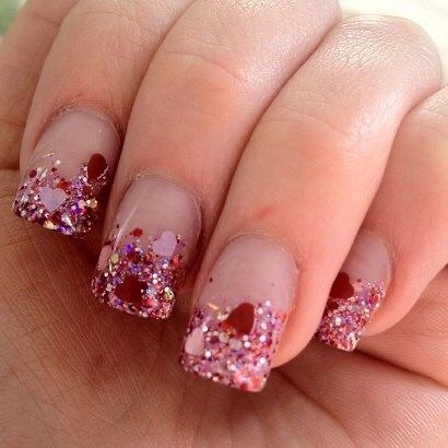 best nail art ideas for Valentine's day 2020 - 4, valentine nails 2020, valentines day nails 2020, valentine's day acrylic nails, valentine gel nails, valentines day nails 2020, nail designs, heart nail art , pink nail art, pink nail colors, simple heart nail designs, easy heart nail art, heart nail designs for short nails, heart tip nails,  heart toe nail designs, pink nails with red hearts