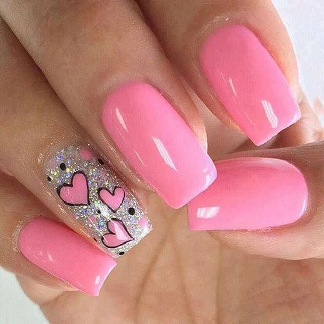best nail art ideas for Valentine's day 2020 - 12, valentine nails 2020, valentines day nails 2020, valentine's day acrylic nails, valentine gel nails, valentines day nails 2020, nail designs, heart nail art , pink nail art, pink nail colors, simple heart nail designs, easy heart nail art, heart nail designs for short nails, heart tip nails, heart toe nail designs, pink nails with red hearts