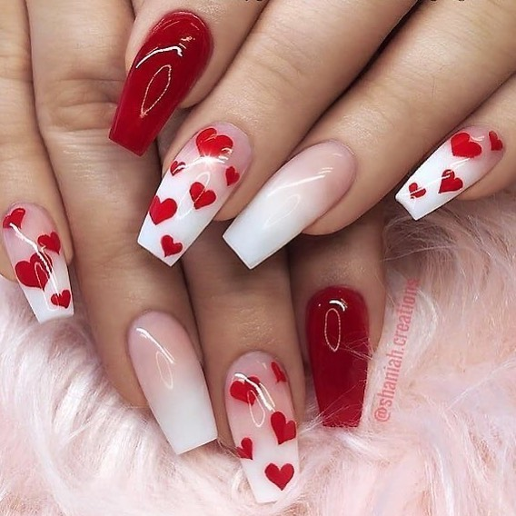 best nail art ideas for Valentine's day 2020 - 34, valentine nails 2020, valentines day nails 2020, valentine's day acrylic nails, valentine gel nails, valentines day nails 2020, nail designs, heart nail art , pink nail art, pink nail colors, simple heart nail designs, easy heart nail art, heart nail designs for short nails, heart tip nails, heart toe nail designs, pink nails with red hearts