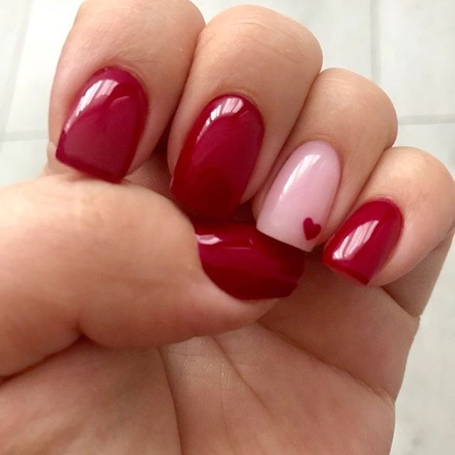 best nail art ideas for Valentine's day 2020 - 35, valentine nails 2020, valentines day nails 2020, valentine's day acrylic nails, valentine gel nails, valentines day nails 2020, nail designs, heart nail art , pink nail art, pink nail colors, simple heart nail designs, easy heart nail art, heart nail designs for short nails, heart tip nails, heart toe nail designs, pink nails with red hearts