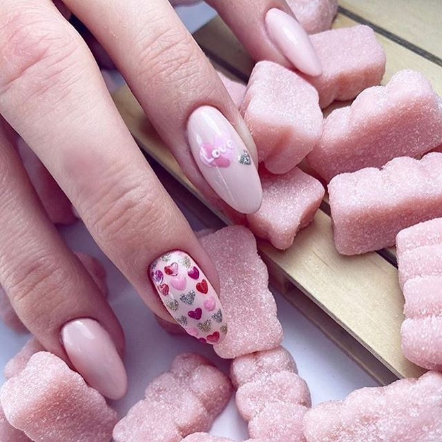 best nail art ideas for Valentine's day 2020 - 26, valentine nails 2020, valentines day nails 2020, valentine's day acrylic nails, valentine gel nails, valentines day nails 2020, nail designs, heart nail art , pink nail art, pink nail colors, simple heart nail designs, easy heart nail art, heart nail designs for short nails, heart tip nails, heart toe nail designs, pink nails with red hearts
