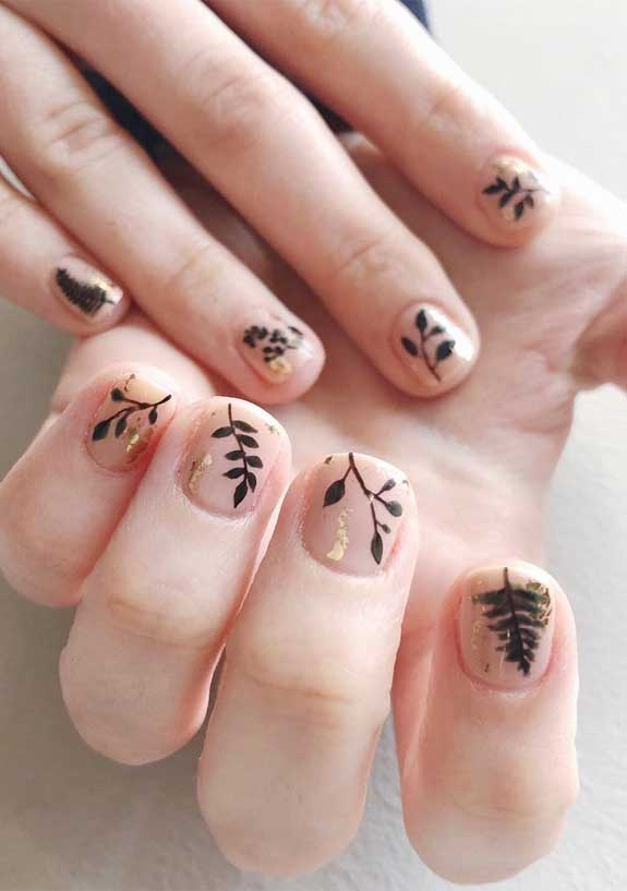 100 spring nail art ideas 2020, best spring nails 2020, mismatched nail art designs, spring nail art designs, nail art designs #nailart #springnails leave nails