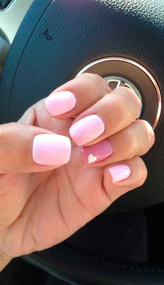best nail art ideas for Valentine 2020 - 42, valentine nails 2020, valentines day nails 2020, valentine day acrylic nails, valentine gel nails, valentines day nails 2020, nail designs, heart nail art , pink nail art, pink nail colors, simple heart nail designs, easy heart nail art, heart nail designs for short nails, heart tip nails, heart toe nail designs, pink nails with red hearts