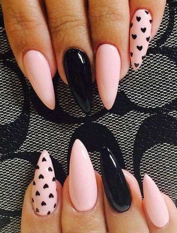 best nail art ideas for Valentine 2020 - 47, valentine nails 2020, valentines day nails 2020, valentine's day acrylic nails, valentine gel nails, valentines day nails 2020, nail designs, heart nail art , pink nail art, pink nail colors, simple heart nail designs, easy heart nail art, heart nail designs for short nails, heart tip nails, heart toe nail designs, pink nails with red hearts