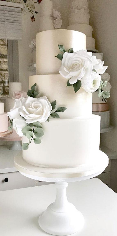 Romantic Simple Wedding Cakes Fab Wedding Dress Nail Art Designs Hair Colors Cakes