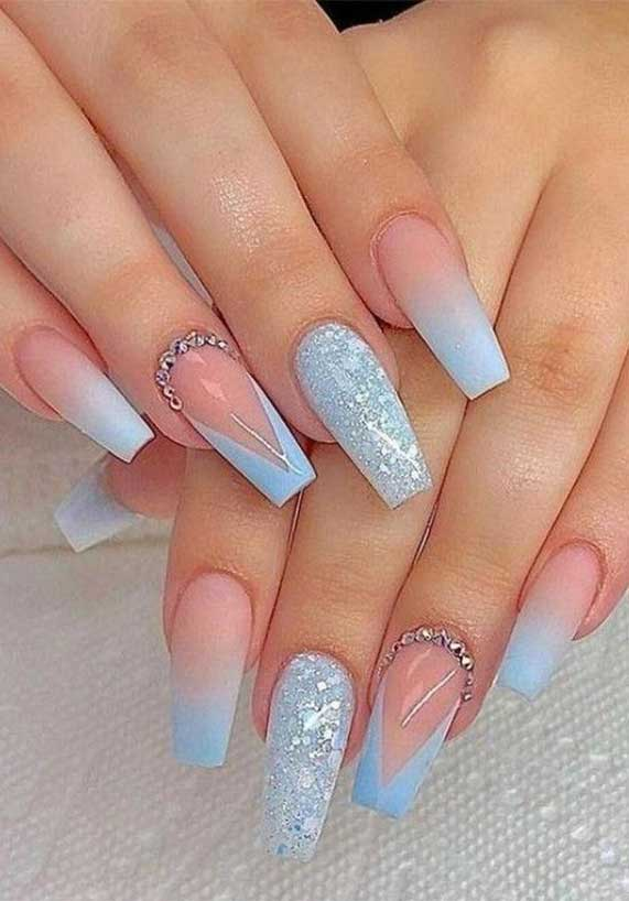 ombre pastel nail colors #springnails #shortnails2020 colorful nails, spring nails, summer nails, best summer nails 2020, cute summer nails 2019, summer nails 2020, summer nails acrylic, bright summer nails, summer nails coffin, summer nails 2020,short summer nails, summer nail ideas #summernails pastel nails