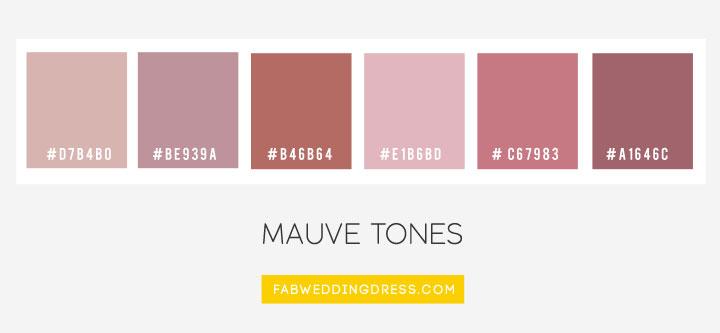 Color Combos : Mauve Tones #mauve color palette , color schemes #color #colorpalette