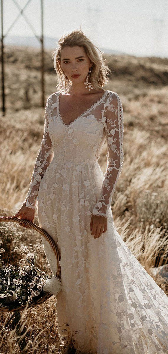 8 Gorgeous Country Style Wedding Dresses #wedding country style wedding dress #weddingdresses  lace wedding dresses, rustic wedding dresses, casual country wedding dresses, high low country wedding dresses, cowgirl wedding dresses, rustic wedding dresses with sleeves, fab wedding dress , fab wedding dresses, lace wedding dress casual western wedding dresses