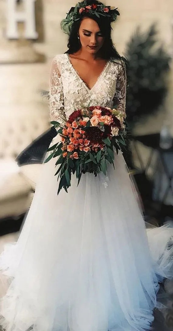 8 Gorgeous Country Style Wedding Dresses #wedding country style wedding dress #weddingdresses  lace wedding dresses, fab wedding dress , fab wedding dresses, rustic wedding dresses, casual country wedding dresses, high low country wedding dresses, cowgirl wedding dresses, rustic wedding dresses with sleeves, lace wedding dress casual western wedding dresses