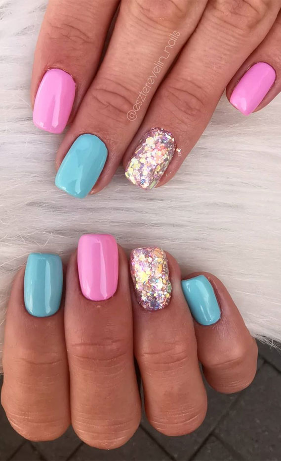 Awesome summer nail colors & designs that you've got to try #summernails summer nails , nail art designs, summer nails 2020, cute summer nails 2020, summer nail ideas 2020, summer nails acrylic , chrome nails, ombre nails #nailcolors