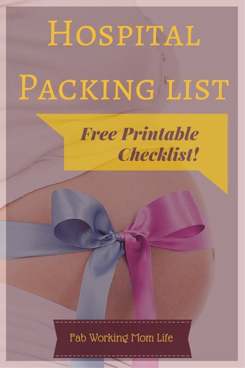 Labor and Delivery Hospital Packing List free printable | Fab Working Mom Life #pregnancy #motherhood #maternity #birth