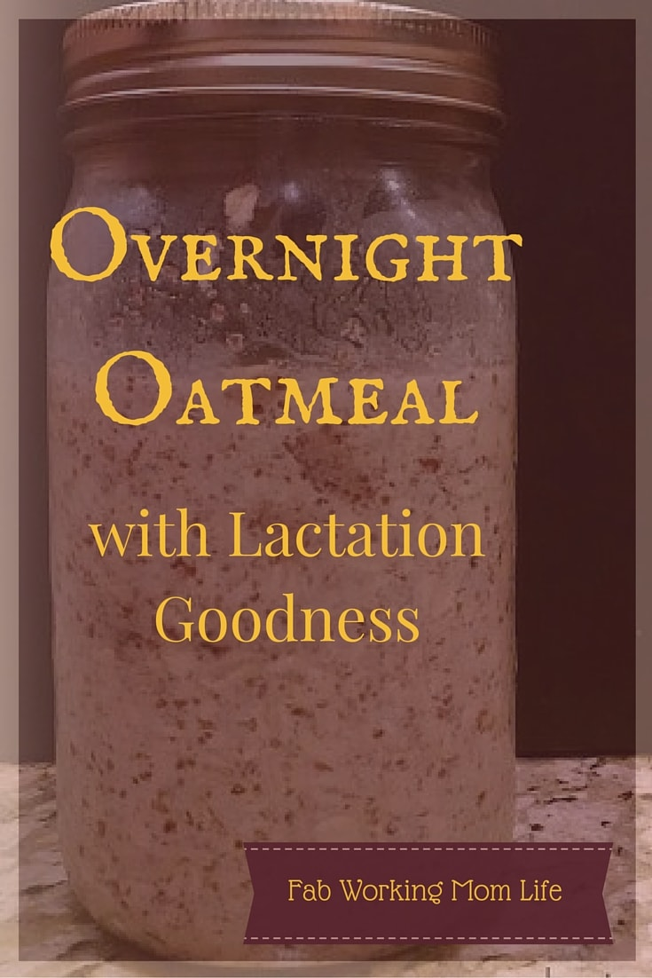 Overnight Oatmeal for Lactation in a Mason Jar